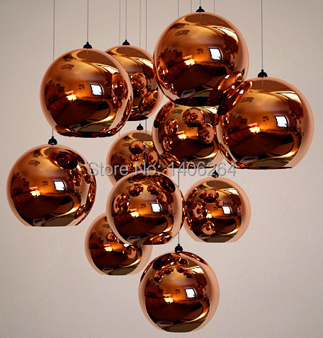 Nordic TOM Rose Gold Plating Ball Glass Pendant Lamp Ceiling Lamp Drong Light Cafe Bar Haning Light Hall Store Coffee Shop<br>