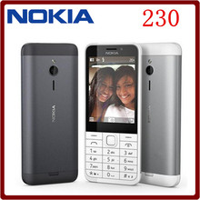 Original Nokia 230 Unlocked GSM 2.8 inch Dual SIM & Single card Cards 2MP QWERTY Keyboard English Refurbished Mobile Phone(China)