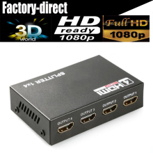 4 port HDMI splitter 1X4 HDMI Distributor HDMI 1 in 4 out 3D&full HD1080P with power supply for HDTV,DVD player,PS4 etc.(China)