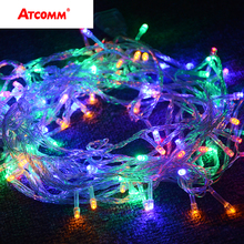 RGB LED Christmas String Lights 10M 20M 30M 40M 50M Wedding Party Xmas Garland Fairy Lights Indoor Outdoor Decoration Lighting(China)