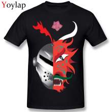 Cool Design O-Neck Men's T-shirt Cotton Tops & Tees Summer Fall Short Sleeve Fashion Cartoon Clothing Knight Dragon Sant Jordi(China)