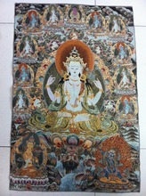 Tibet Nepal tara buddha Kuan statue Guan Yin thangka peace wealth(China)
