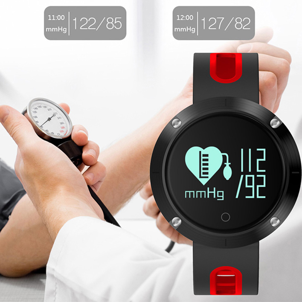 ColMi DM58 Bluetooth Sports Wristband Heart Rate Smart Watch Blood Pressure Monitor IP68 Waterproof For Android and IOS Phone<br>