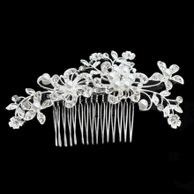 Flowers Hair Ornaments Trendy Haircombs Tiaras And Crowns For Women Charms Eleghant Headwear Female Wedding Dress Accessories