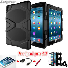 Tough Military Hard Rugged Heavy Duty ShockProof Dirt Proof Armor Silicone Rubber Case Cover cara para For ipad pro 9.7 / air3