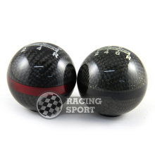 Mugen Red/Black Colour Carbon Fiber 6 Speed Car Gear Shift Knob, JDM Racing Car Gear Stick Men's Gear Shift Knob!(China)