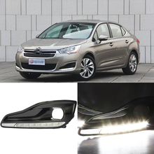 Ownsun Brand New Updated LED Daytime Running Lights DRL With Black Fog Light Cover For Citroen C4L 2013(China)