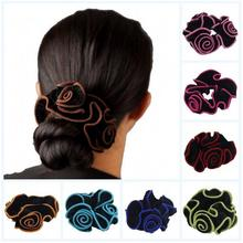 New fashion women hair rope velvet hair ring elastic hair bands hair accessories for lady flower headbands hairclips 10pc/lot(China)
