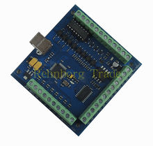 Free shipping 100KHz CNC mach3 USB 4 Axis Stepper Motor Controller Board USBCNC Smooth Stepper Motion Controller card 24V(China)