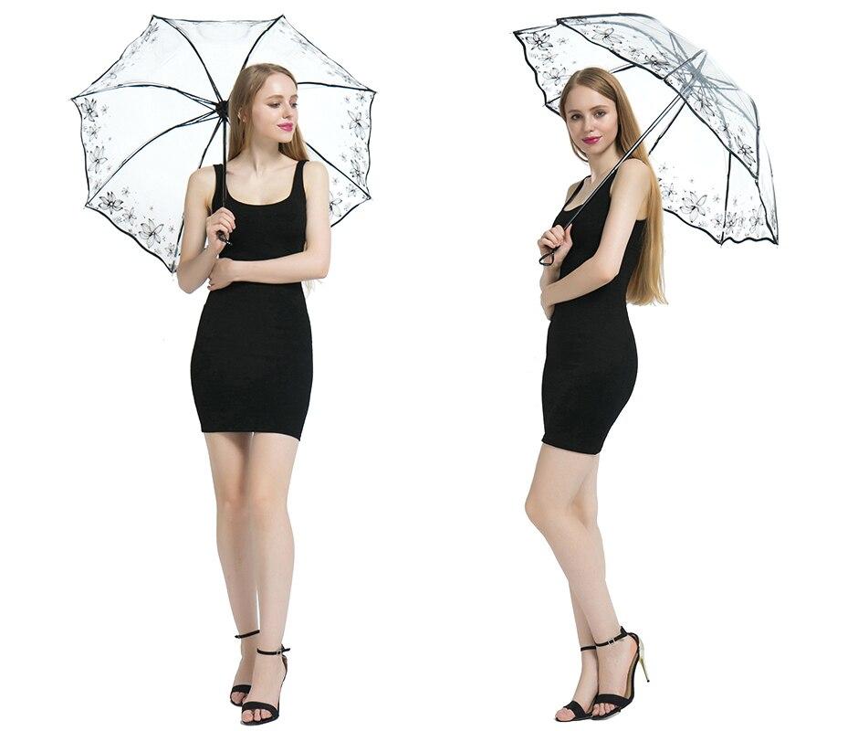 مظلة شفافة قابلة للطي للنساء 2