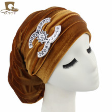 NEW Velvet Turban Chemo Baggy Hat Beany Slouch Cap Bandana Hair Loss Bonnet Tube(China)