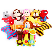 Squeaky Dog Plush Toys Small Cat Puppy Pet Dog Chew Toys Cartoon Cute Soft Sound Fun Slipper Spiderman Bone Play Toys Wholesale(China)