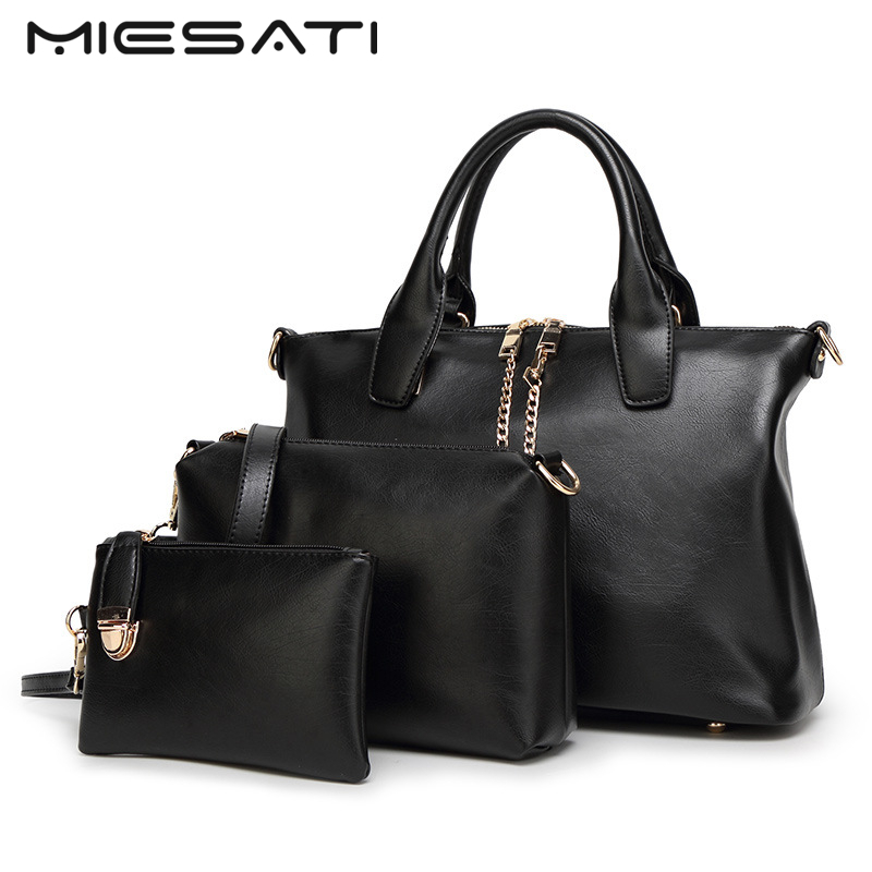 MIESATI Shoulder Bags Women Messenger Bags Crossbody Bags For Women Day Clutches Female Leather Luxury Handbags 3 Tote Bag Set<br>