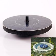 New Fashion Pretty Solar Powered Water Floating Pump Fountain Garden Plants Pool Watering Solar Pump Kit 1Set