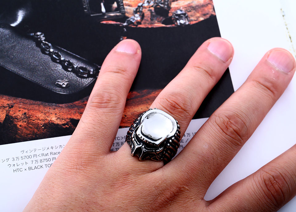แหวนแนวๆ Code 051 แหวน Predator สแตนเลส เจ๋งมากๆ ส่งฟรี5