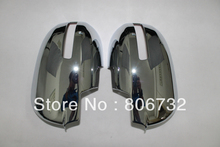ABS Chrome Car Door Side Mirror Cover/Rearview Side Door Mirrors Cover Trim  2pcs for Mitsubishi Outlander,EX 2013 2014