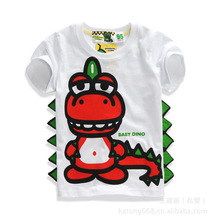 2-7T Short Sleeve Boys T Shirts Girls Dinosaur Unisex Summer Cartoon 3D printing T-Shirt Kid Baby Children Tee animal MS0054