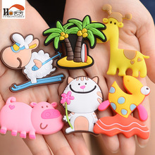1Pcs silicone Cartoon Animal fridge magnets whiteboard sticker Refrigerator Magnets Kids gifts Home Decoration(China)