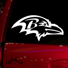 NFL Baltimore Ravens Auto Window audi jdm car accessories die cut Sticker Decal for Car Truck Suv Motorcyle 6'' wide white(China)