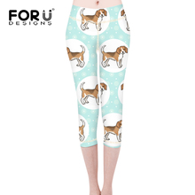 Buy FORUDESIGNS Fitness Leggings Women Workout Pants Beagles Pet Dog Printed Leggins Girl Elastic Slim Skinny Beautiful Pencil Pants for $18.25 in AliExpress store