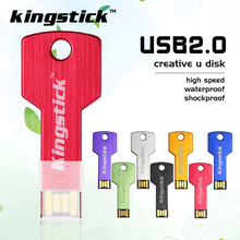 Kingstick full capacity pendrive key shape usb flash drive usb2.0 8gb 16gb 32gb 64gb 128gb memory flash USB stick pendrive(China)