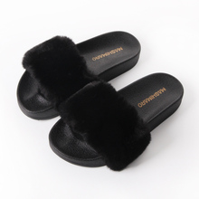 Hair Slippers New Ladies Brand Fashion Rabbit Hair Furry Slippers Women Indoor Casual Plush Slippers Zapatillas Feminino