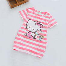2017 Summer Elsa Girl Clothes Cartoon Cute Costume For Kids Girls Dress Cotton Vestidos Stripe Party Dresses Children Clothing