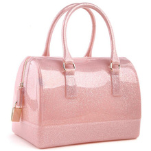 2016 New Brand Quality Fashion Silicone Jelly Handbags Casual Clutch Candy Transparent Tote Bags