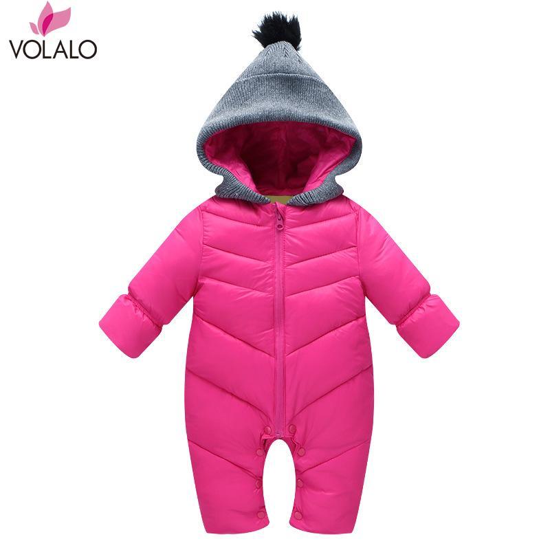 Baby Snowwear Cotton Padded One Piece Warm Outerwear Childrens Overalls Baby Romper Kids Winter Jumpsuit Newborn Down &amp; Parkas<br><br>Aliexpress