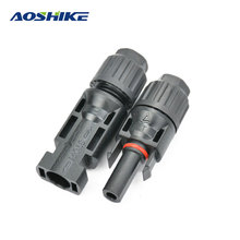 Aoshike 10 pairs MC4 Solar Panel Connector Male And Female Plugs MC4 Connector PV modules Photovoltaic Solar System Connector