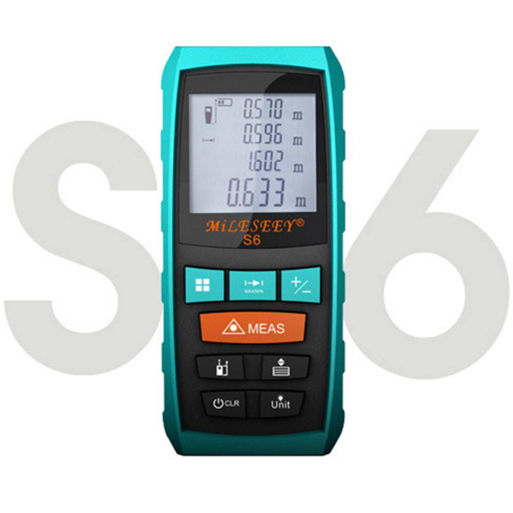 Mileseey S6 Tools And Measuring and Laser Distance Meter 40m 60m 80m 100m Laser Measure Device Tool  medidor laser Blue<br>