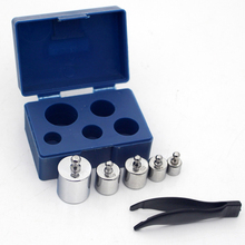 High Quality Blue box Silver 100g/200g/500g/1000g  M2 Set Grams Precision Calibration Weight Digital Scale send tweezers