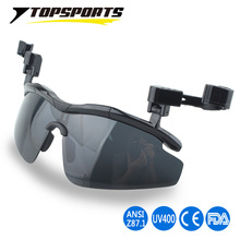 2017 New Outdoor Polarized Glasses UV400 protection Hat Visors Sport Cap Clip-on men Sunglasses Golf Cycling Fishing Run Eyewear(China)
