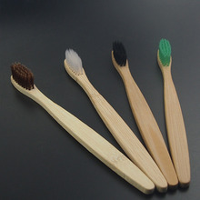 DR.PERFECT 4PCS/lot multi color environment  Eco friendly  wooden Bamboo Toothbrush  tongue scraper Oral Care Soft Bristle