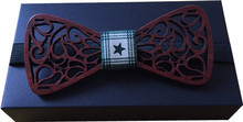 Fashion man wooden bowtie wedding party handmade butterfly tie hollow bow tie man's accessories