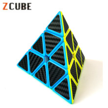 2017 New Z-cube Carbon Fiber Pyraminx Sticker Speed Magic Cube Magico Bricks Block Educational Toys for Children
