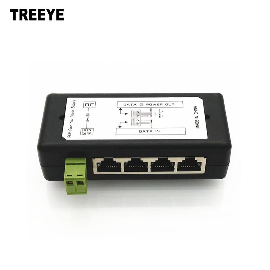 8 Port POE Injector For CCTV Surveillance IP Cameras Over Ethernet Power Adapter