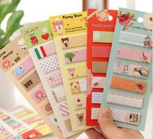 Cute Post-It Bookmark Marker Memo pad Cartoon Label Paper Sticker Office Post Attach Memo Tags Test Note Table Words