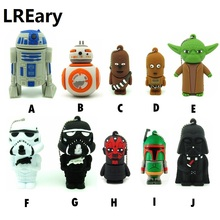 10 styles Star wars Pen drive darth vader usb flash drive BB8 robot flash memory stick R2D2 pendrive 4GB/8GB/16GB/32GB Yoda(China)