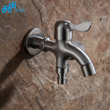 Doodii 304 Stainless Steel Washing Machine Faucet Double Use Bibcock Laundry Mop Pool Tap Dual Handles Washing Machine Taps(China)