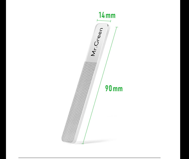 Mr.Green nail file Nanometer Glass file Professional Nail Polishing Manicure Nail Art Tools Pedicure with a metal box