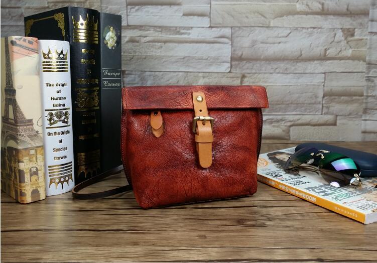 New arrival genuine leather womens flap bag mini messenger bag original manual polished color bag <br><br>Aliexpress