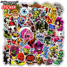 50 Pcs Mixed Horror Stickers for Luggage Laptop Skateboard Bicycle Motorcycle Car Styling Decals PVC Cool Waterproof Sticker Toy(China)