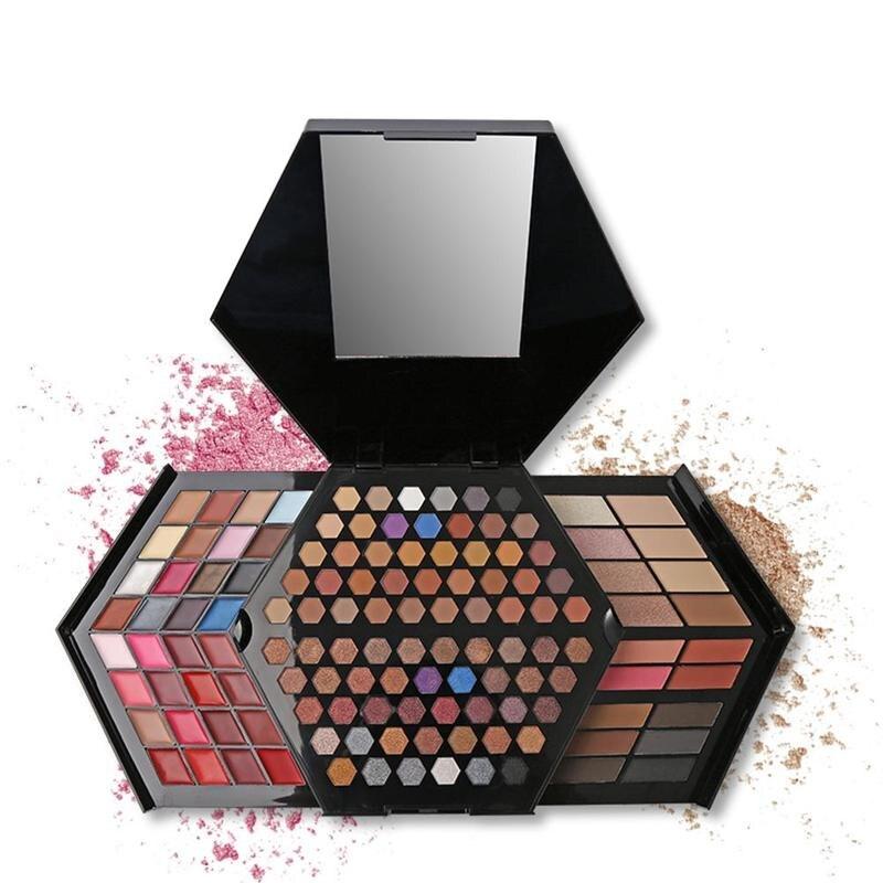 44 Colors Makeup Set Pro Make Up Kit Full Color Matte &amp; Shimmer Eyeshadow Palette Highlighter Face Powder Concealer Blusher <br>