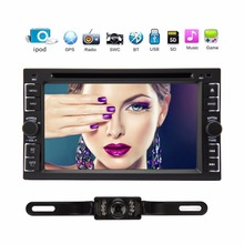 2 DIN Car Stereo Autoradio Touch Screen DVD Player GPS Navigation FM/AM/USB/SD supports ipod Bluetooth+Free 8GB Map+free camera(China)