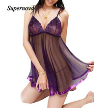 Hot Marketing Embroidery Sexy Fun underwear Lady Print Perspective Lure Pajamas Women Underwear Exotic Dresses  WAug22