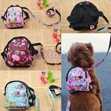 Pet Dog Bag Backpack Outdoor Travel Carrier For Dog Puppy Cats With Leash HXP001