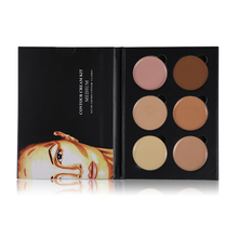 6 Colors Highlight Contour Palette Light to Medium 3D Contouring Makeup Corrector Concealer Cream Make Up Cosmetics(China)