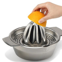 Stainless Steel Manual Juicer Fruit Lemon Squeezer with Bowl Juicer Strainer Good quality!(China)
