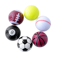 Set 6PCs Novelty Assorted Creative Champion Sports Golf Double Balls Joke Fathers Day Best Present Rubber